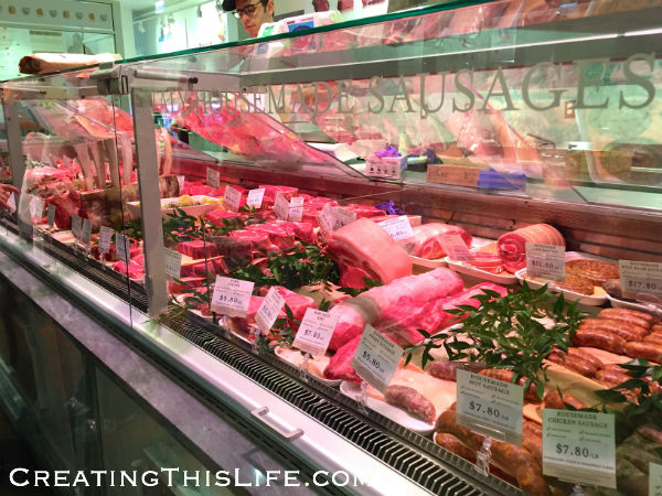 Eataly Chicago meat display case