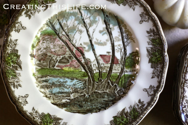 Johnson Brother Friendly Village dinner plate