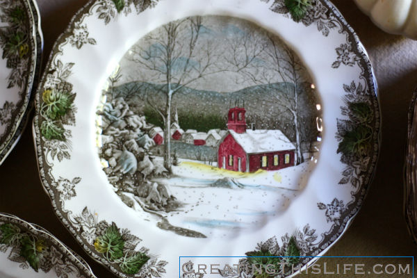 Johnson Brothers Friendly Village Schoolhouse dinner plate vintage