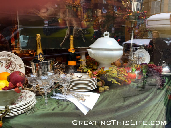 POSH Chicago Thanksgiving window displays