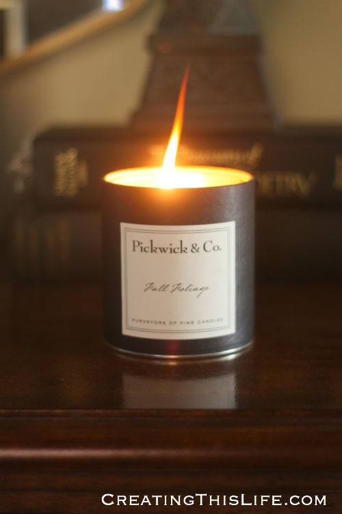 Pickwick and Co fall candle