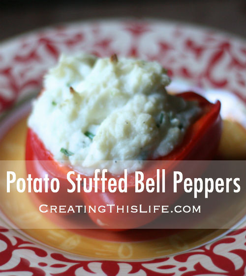 Potato Stuffed Bell Peppers Recipe