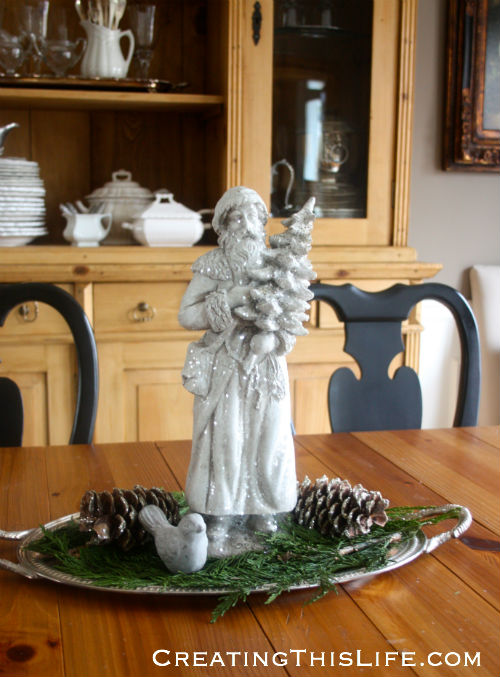 Dining room Christmas centerpiece