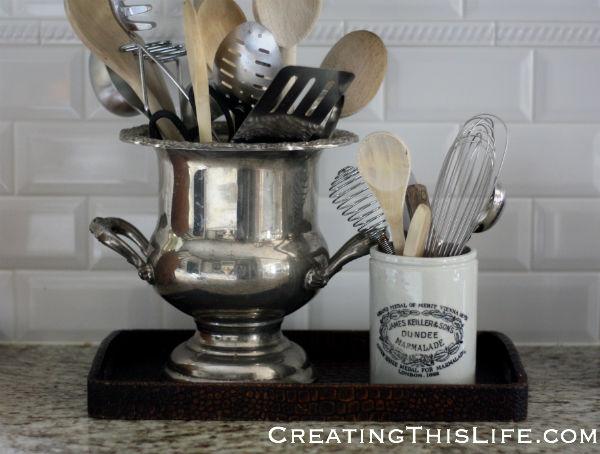 Vintage kitchen utensil holders