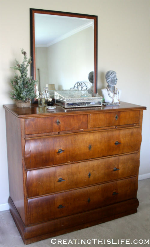 Antique dresser at Creating This Life