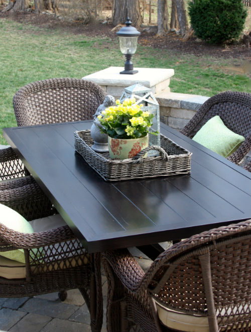 Spring Patio at CreatingThisLife.com