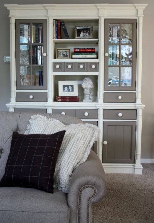 pine hutch painted with Annie Sloan Chalk Paint