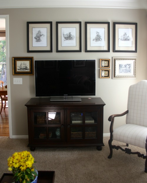 frame gallery around TV
