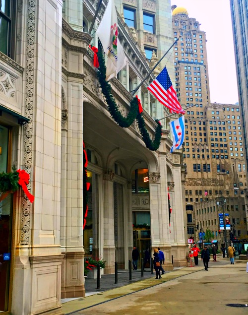 Wrigley Building Chicago at Christmas