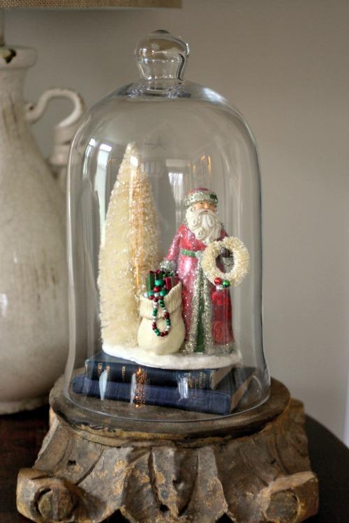 Santa under glass