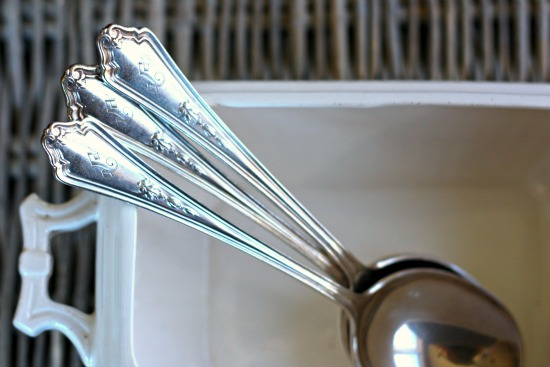 Vintage Silverplate Soup Spoons