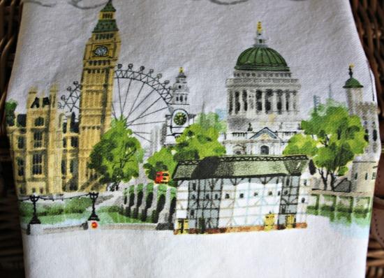 London teatowel detail