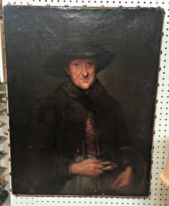 antique portrait painting